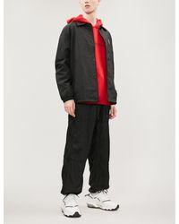 Givenchy Black Logo-print Shell Jacket for men