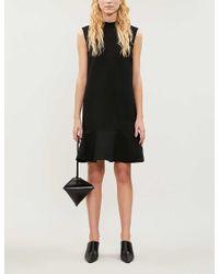 Victoria, Victoria Beckham Black Tiered Stretch-ponté Mini Dress
