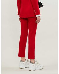 Maje Parmin Tapered Woven Trousers