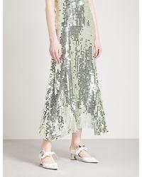 Temperley London Multicolor Heart Charm High-rise Sequinned Skirt