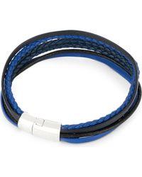 Tateossian - Blue Cobra Multi-strand Leather Bracelet for Men - Lyst