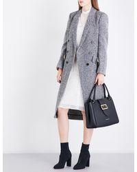 Burberry - Black Trentwood Donegal Herringbone Wool-tweed Coat - Lyst