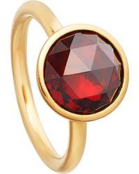 Astley Clarke - Multicolor Stilla 18ct Yellow-gold Plated Garnet Ring - Lyst