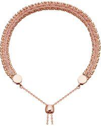 Astley Clarke - Metallic Kula Biography 18ct Rose-gold Peach Woven Bracelet - Lyst