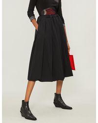 Comme des Garçons Black Drawstring-waist Wool Skirt