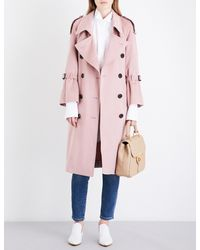 Burberry - Pink Lakestone Cashmere Trench Coat - Lyst