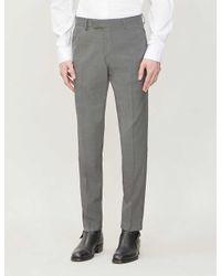 Tiger Of Sweden Gray Slim-fit Linen Trousers for men