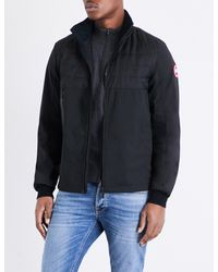 Canada Goose Black Jericho Down-filled Shell Bomber Jacket for men
