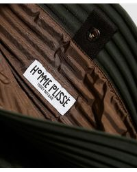 Homme Plissé Issey Miyake Green Small Pleats Bag for men