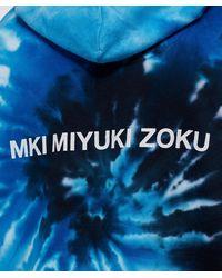MKI Miyuki-Zoku Blue Tie Dye Hoodie for men