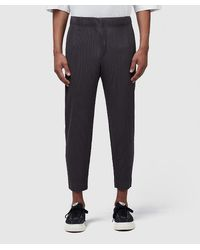 Homme Plissé Issey Miyake Gray Straight Tapered Pant for men