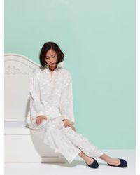 Shanghai Tang - Multicolor Leaves Silk Pajama Set - Lyst