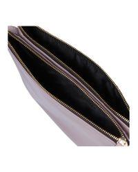 Kurt Geiger Multicolor Lambskin Pisces Pouch Nude Leather Evening Bags