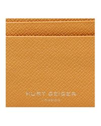 Kurt Geiger New Saffiano Card Holder Brown Leather