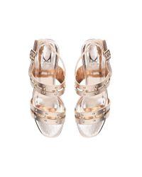 Moda In Pelle Metallic Monicco Mid Heel Summer Moda