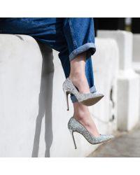 Carvela Kurt Geiger Metallic Alice Silver High Heel Court Shoes