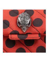 Kurt Geiger - Orange Fabric Mini Kensington X - Lyst