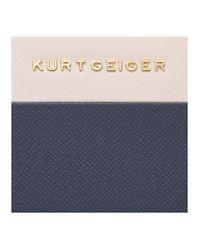 Kurt Geiger Blue New Saf Zip Around Wallet