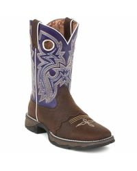 Durango | Blue Lady Rebel By Women's Twilight N' Lace Saddle Western Boot | Lyst