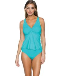 Sunsets Blue Forever Underwire Twist Tankini