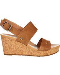 04b864c5d9c UGG Elena Ii Wedge Sandal in Brown - Lyst