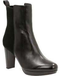 Clarks - Black Kendra Porter Chelsea Boot - Lyst