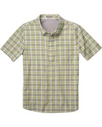 Toad&Co Green Airscape Short Sleeve Plaid Shirt for men
