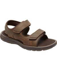 Rockport Brown Get Your Kicks Double Hook/loop Active Sandal for men
