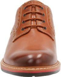 Clarks Brown Melshire Plain Toe Derby Shoe for men