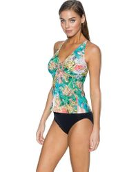 Sunsets Blue Forever Underwire Twist Tankini (efgh)