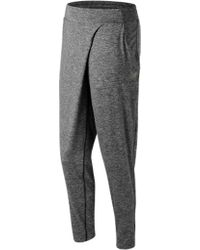 New Balance Gray Wp73458 Novelty Crossover Soft Solid Pant