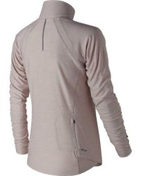New Balance Gray Wt81114 Anticipate Half Zip Pullover