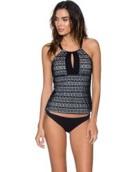 Sunsets Black Mia Hi-neck Tankini