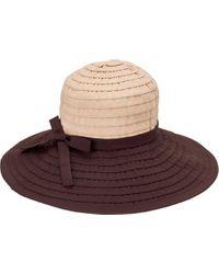 San Diego Hat Company Brown Ribbon Large Brim Hat W/ Bow Rbl299