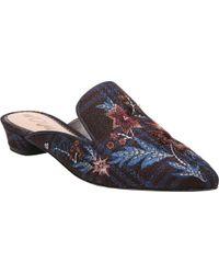 Sam Edelman Blue Aven (navy Multi Tartan Plaid) Clog/mule Shoes
