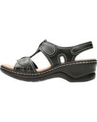 Clarks - Black Lexi Walnut Sandal - Lyst