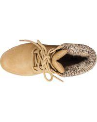White Mountain Footwear Natural Kudrow Sweater Knit Hiker