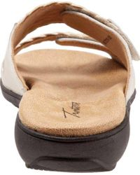 Trotters Natural Terri Two Strap Woven Slide