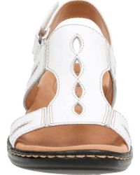 Clarks White Leisa Lakelyn Cutout Slingback