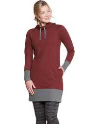 Toad&Co Red Baby French Terry Hooded Dress