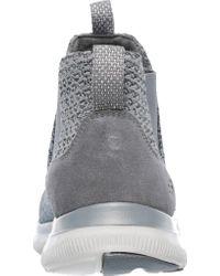 Skechers Gray Flex Appeal 2.0 - Chime In