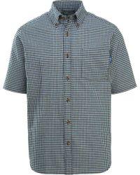 Woolrich Blue Weyland View Button Down Short Sleeve Shirt for men