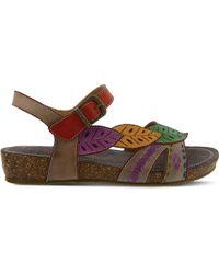 Spring Step Multicolor Kukonda Quarter Strap Sandal