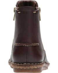 Clarks Brown Tamitha Flower Ankle Boot