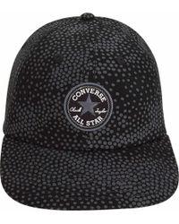 Converse Black Pattern Short Visor Cap