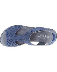 Jambu Blue Jbu Chloe Peep Toe T Strap Vegan Sandal