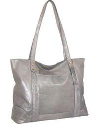 Nino Bossi Gray Tiara Leather Tote