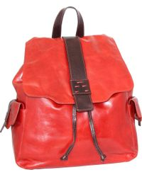 Nino Bossi - Red Breanna Leather Drawstring Backpack - Lyst