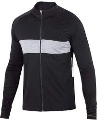 Ibex Black Spoke Long Sleeve Full Zip Cycling Jersey for men