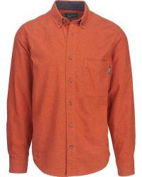 Woolrich Orange Sportsman Chamois Shirt for men